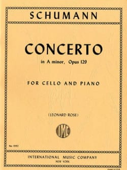 SCHUMANN - Cello Concerto in A minor op. 129 - Sheet Music - di-arezzo.com