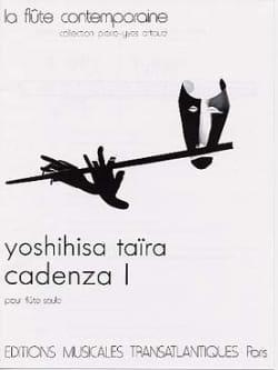 Cadenza 1 - Flûte seule Yoshihisa Taïra Partition laflutedepan