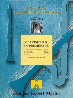 Clarinettes en promenade - Partition - laflutedepan.com