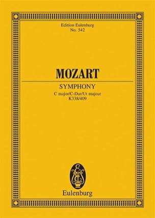 Wolfgang Amadeus Mozart - Symphonie C-Dur (KV 338) - Menuett (KV 409) C-Dur – Partitur - Partition - di-arezzo.fr