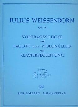 Julius Weissenborn - Vortragsstücke op. 9 - Heft 1 - Sheet Music - di-arezzo.co.uk