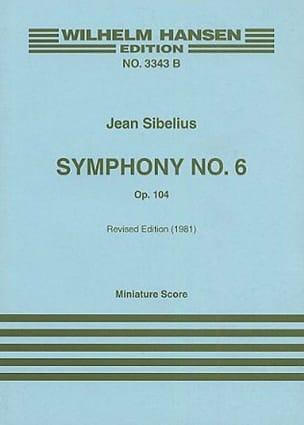 Jean Sibelius - Symphonie n° 6 op. 104 – Partitur - Partition - di-arezzo.fr