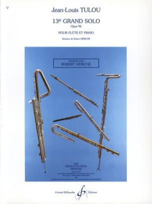 Jean-Louis Tulou - 13. Grand Solo op. 96 - Klavierflöte - Noten - di-arezzo.de