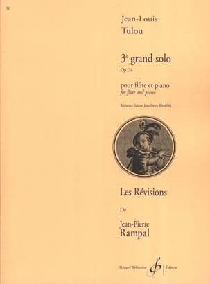 Jean-Louis Tulou - 3rd Grand Solo Op. 74 - Sheet Music - di-arezzo.co.uk