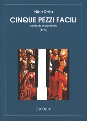 Nino Rota - 5 Pezzi facili - Flauto pianoforte - Partition - di-arezzo.fr