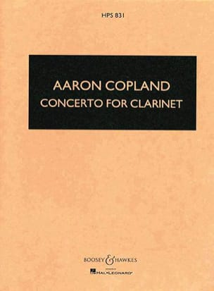 Aaron Copland - Concerto for clarinet - Score - Partition - di-arezzo.fr