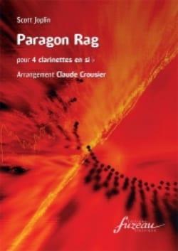 Scott Joplin - Paragon Rag - 4 Clarinettes - Partition - di-arezzo.fr
