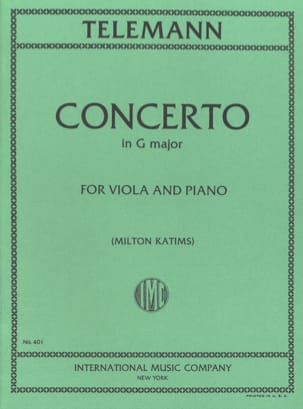 Concerto in G major - Viola TELEMANN Partition Alto - laflutedepan