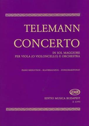 Georg Philipp Telemann - Concerto in Sol Maggiore – Viola - Partition - di-arezzo.fr