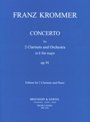 Franz Krommer - Concerto In Eb Op. 91 - 2 Clarinets Piano - Sheet Music - di-arezzo.co.uk