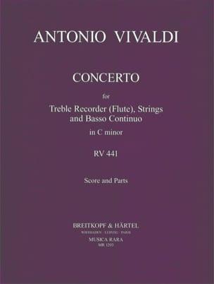 Konzert c-moll RV 441 P. 440 - Blockflöte Streicher Bc laflutedepan
