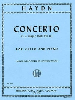 HAYDN - Concerto in C major, Hob. 7, n°1 - Partition - di-arezzo.fr