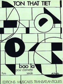 Tiet Ton-That - Bao - Sheet Music - di-arezzo.com