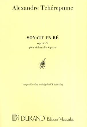 Alexandre Tcherepnine - Sonate En Ré N° 1 Op. 29 - Partition - di-arezzo.fr