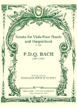 P. D. Q. Bach - Sonata for Viola four hands and Harpsichord S. 440 - Partition - di-arezzo.fr