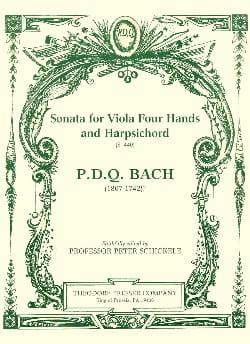 Sonata for Viola four hands and Harpsichord S. 440 laflutedepan