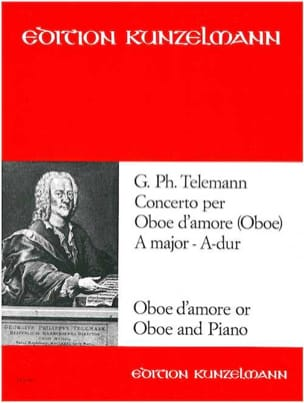 Georg Philipp Telemann - Concerto per oboe d'amore A-Dur - Oboe di Amore Klavier - Partitura - di-arezzo.it