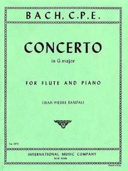 Carl Philipp Emanuel Bach - Concerto in G major Wq 169 - Piano flute - Partition - di-arezzo.com