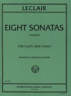 8 Sonatas - Volume 2 - Flute piano LECLAIR Partition laflutedepan