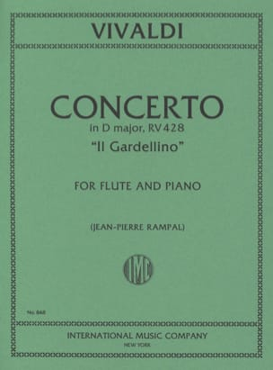 VIVALDI - Concerto in D Maj. - F. 6 No. 14 - Il Gardellino - Flute / Piano - Sheet Music - di-arezzo.co.uk