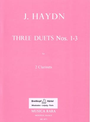Joseph Haydn - Six Duos Concertants N° 1-3 – 2 Clarinets - Partition - di-arezzo.fr