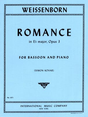 Romance in Eb major op. 3 Julius Weissenborn Partition laflutedepan
