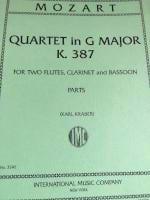 Quartet In G (Sol M.), Kv 387 - 2 Flûtes Clarinette et Basson - laflutedepan.com