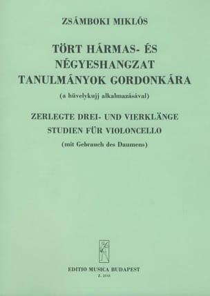 Miklos Zsamboki - Zerlegte Drei- und Vierklänge Studien für Violoncello - Sheet Music - di-arezzo.co.uk