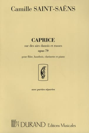 Camille Saint-Saëns - Caprice op. 79 - Flute, oboe, clarinet and piano - Sheet Music - di-arezzo.com