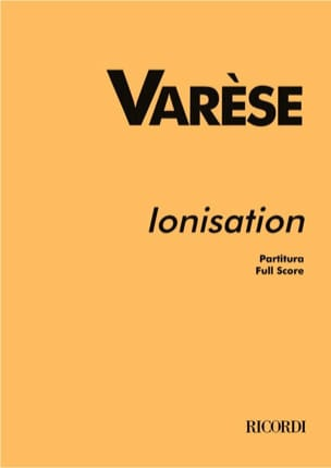 Ionisation - Partitur Edgard Varèse Partition laflutedepan
