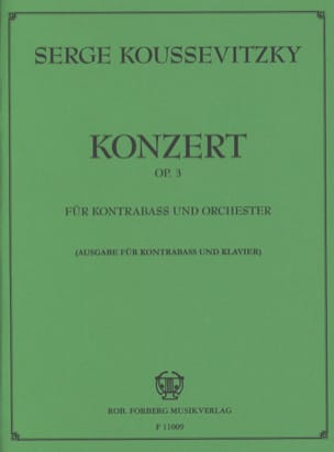 Serge Koussevitzky - Concerto op. 3 - Double bass - Sheet Music - di-arezzo.co.uk