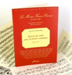 Antoine Forqueray - Viol pieces with basso continuo - Sheet Music - di-arezzo.com