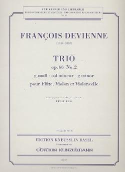François Devienne - Trio op. 66 n° 2 g-moll -Stimmen - Partition - di-arezzo.fr
