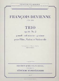 Trio op. 66 n° 2 g-moll -Stimmen DEVIENNE Partition laflutedepan