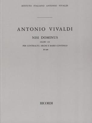Antonio Vivaldi - Nisi Dominus (Salmo 126) RV 608 – Partitur - Partition - di-arezzo.fr