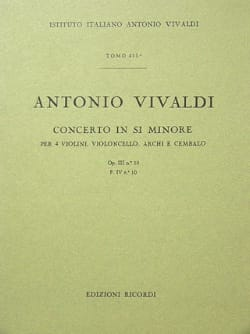 VIVALDI - Concerto in min. - F. 4 n ° 10 - Partitura - Partition - di-arezzo.co.uk