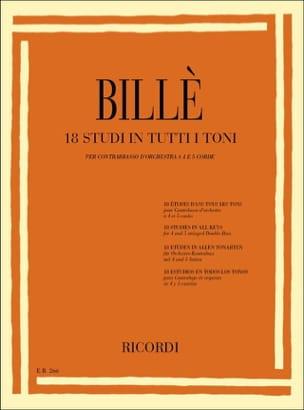 Isaia Billè - 18 Studi in tutti toni - Contrabbasso - Sheet Music - di-arezzo.co.uk