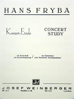 Hans Fryba - Konzert-Etüde - Sheet Music - di-arezzo.co.uk