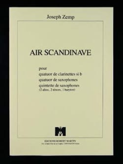 Joseph Zemp - Scandinavian Air - clarinet quartet - Sheet Music - di-arezzo.co.uk