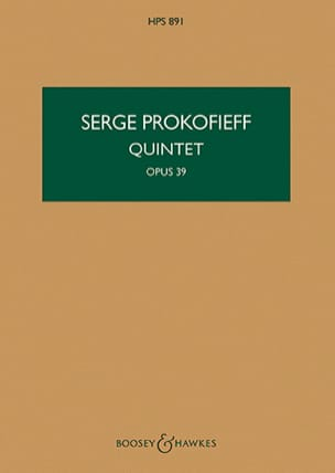 Serge Prokofiev - Quintet op. 39 - Score - Sheet Music - di-arezzo.co.uk