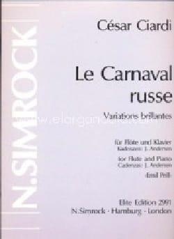 Le Carnaval Russe Cesare Ciardi Partition laflutedepan