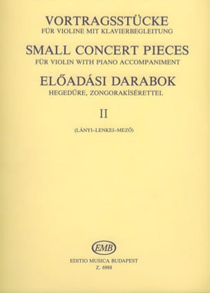 Lanyi M. / Lenkei T. / Mezo I. - Small concert pieces, Volume 2 - Partition - di-arezzo.fr