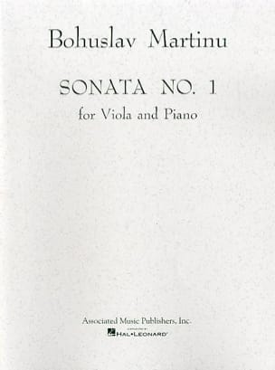 Bohuslav Martinu - Sonata No. 1 - Viola - Sheet Music - di-arezzo.co.uk