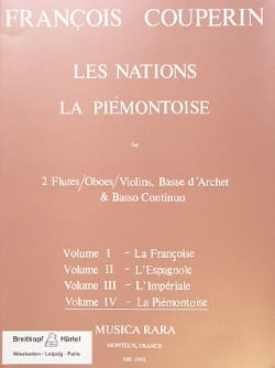 François Couperin - Les Nations - Volume 4 : La Piémontoise - Partition - di-arezzo.fr