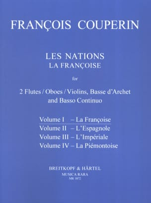 François Couperin - Les Nations - Volume 1 : la Françoise - Partition - di-arezzo.fr