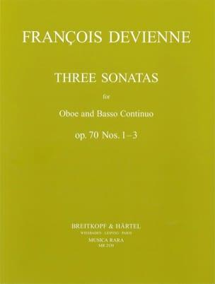 François Devienne - 3 Sonatas op. 70 n° 1-3 - Oboe Bc - Partition - di-arezzo.fr