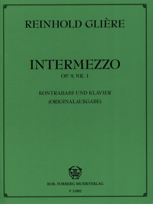 Reinhold Glière - Intermezzo op. 9 n ° 1 - Sheet Music - di-arezzo.co.uk