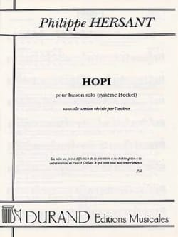 Philippe Hersant - Hopi - Sheet Music - di-arezzo.co.uk
