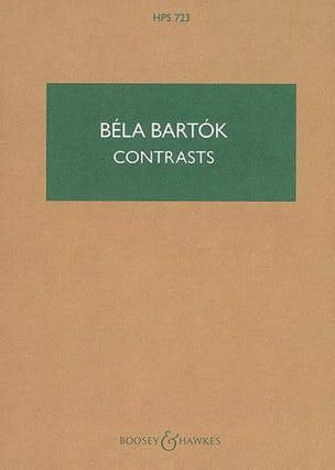 Contrasts - Partitur BARTOK Partition Petit format - laflutedepan