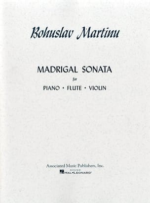 Bohuslav Martinu - Madrigal Sonata - Partition - di-arezzo.fr